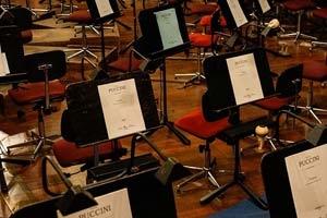 Notenständer und Notenpulte für Musikveranstaltungen